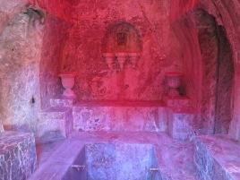 A bathing house grotto hidden in the castle gardens.