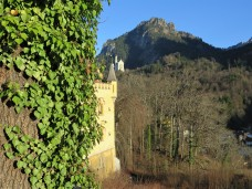 Neuschwanstein Castle can be seen from Hohenschwangau Castle. There is a telescope in the king's bedroom which Ludwig II used to check the progress of the castle's construction from his window.