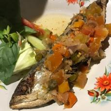Ikan Colo (stuffed mackerel)