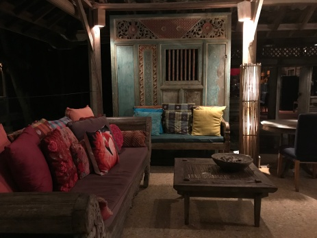 Beautiful lounge area at Nam Restaurant